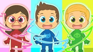 Download Five Little Babies with PJ Masks | Connor, Amaya and Greg | Nursery Rhymes for kids Video