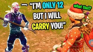 Download This 12 year old kid is the best Fortnite player I EVER met... (not clickbait) Video