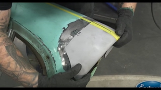 Download Fender Repair. Fixing a 1956 Chevy Fender. Body work at Eastwood Video