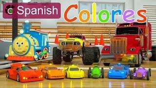 Download Learn Colors (SPANISH) - Colores y coches de carreras con Max, Bill y Pete el camión - TOYS Video