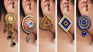 Download 5 easy Stud Earring Design | DIY | 5 min Craft | Hand made jewelry | Art with Creativity Video