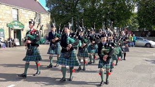 Download Ballater & District Pipe Band at the Tarland Food & Music Festival 2017 in Deeside, Scotland Video