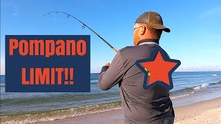 Download The BEST Way to Limit Out on Pompano Surf Fishing Video