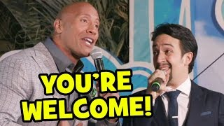 Download ″You're Welcome″ Live By Dwayne Johnson & Lin-Manuel Miranda At Moana World Premiere Video