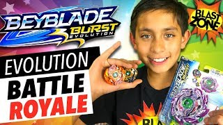 Download Beyblade Burst Evolution Battle Royale! Hasbro Beyblade Evolution Tournament & Unboxing! Video