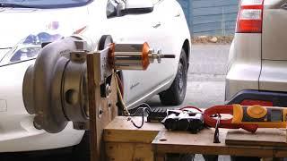 Download Turbocharger compressor electric drive experiments - Part 1 Video