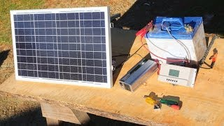 Download How to build a basic portable solar power system -camping,boating,off grid living- Video