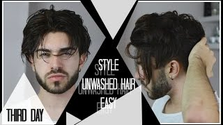 Download HOW TO: Style 2nd/3rd Day Hair WITHOUT Shampooing | Men's Hair 2016 Video