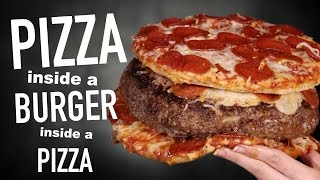 Download PIZZA INSIDE A BURGER INSIDE A PIZZA Video