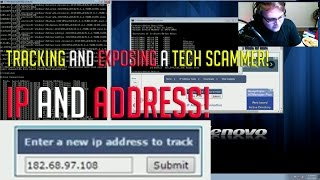 Download Showing a Tech Scammer his IP and Location. Video