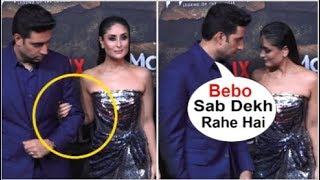 Download Kareena Kapoor Ends FIGHT With Abhishek Bachchan & HOLDS Hands Front Of Media At Mowgli Trailer Video