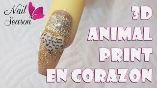 Download Animal print en las uñas corazon de leopartdo 3d Nail Art Video