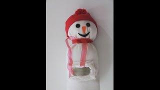 Download Pet şişeden kardan adam poşetlik yapımı Video