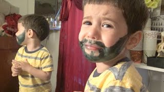 Download BABY FREAKS OUT SEEING HIMSELF WITH BEARD!! Video
