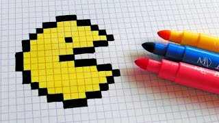 Download Handmade Pixel Art - How To Draw a Pac-man #pixelart Video