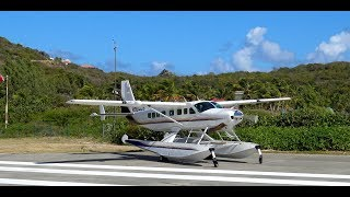 Download RARE Cessna grand caravan 208 seaplane landing & takeoff from St. Barts (before hurricane irma) Video