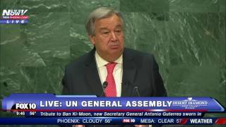 Download 1ST SPEECH: Antonio Guterres Addresses United Nations After Being Sworn in as Secretary General -FNN Video