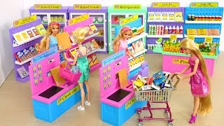 Download I ❤️ 2 Shop Barbie Deluxe Supermarket, Morning Ready for School boneka Barbie Supermercado Video