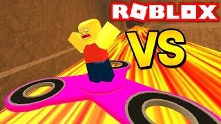 Download 1,000 MPH FIDGET SPINNER VS ROBLOX! (Roblox Fidget Spinner Obby) Video