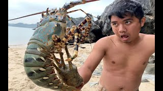 Download Primitive Technology with Survival Skills Catch giant Lobsters in deserted island Video