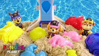 Download Paw Patrol Skye & Chase Mission Pups on the Beach Magic Sand Video