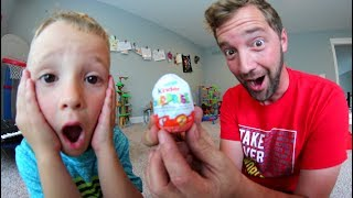 Download FATHER SON ILLEGAL CANDY! / Kinder Surprise Egg! Video