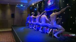Download Male strippers get naked to Maroon 5's Moves Like Jagger at Magic Mike premiere Video