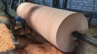 Download Dangerous Woodturning | Giant Wood Lathes - One Big Tree Create A Wood Vase Video