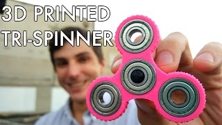 Download 3D Printed Tri-Spinner / Triple 608 Bearing Fidget Spinner #EDC Video