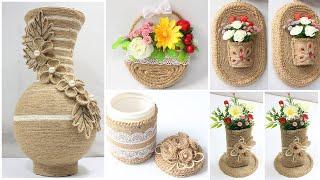 Download 5 Jute craft ideas | Home decorating ideas handmade Video