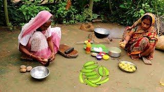 Download Bangali Kancha KOLAR KOFTA Recipe | Raw Banana Kofta Curry prepared by Grandmother- Village Food Video