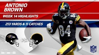 Download Antonio Brown's 213 Yards & 11 Catches vs. Baltimore! | Ravens vs. Steelers | Wk 14 Player HLs Video