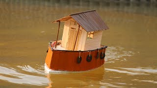 Download How to make a Motor House Boat Video