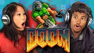 Download DOOM (1993 ORIGINAL GAME) (Teens React: Retro Gaming) Video
