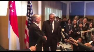 Download Shangri-La Dialogue: Ng Eng Hen welcoming James Mattis to Singapore Video