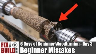 Download Beginner Mistakes on the Lathe | 6 Days of Beginner Woodturning Day 3 Video