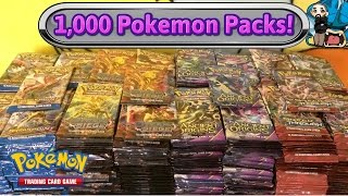 Download 1,000 Pokemon pack opening! Largest Pokemon TCG card opening on YouTube!! Video