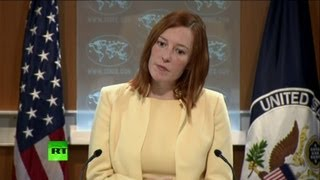 Download 'US citizen has no right to free speech?' State Dept spokesperson grilled over Snowden Video