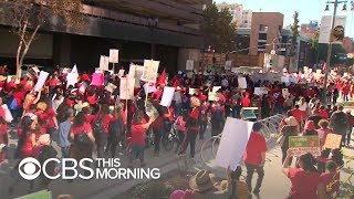 Download Los Angeles teachers go on strike after failed negotiations with district Video