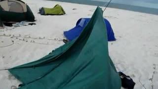 Download Strong wind, broken tents, massive destruction. Heaps of fun Video