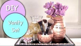 Download DIY Vanity & Makeup Storage Set! DIY Makeup Brush Holder & 4 Glam Jars Video