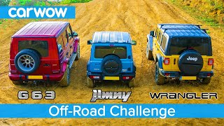Download AMG G63 v Suzuki Jimny v Jeep Wrangler - Up-Hill DRAG RACE & which is best OFF-ROAD! Video