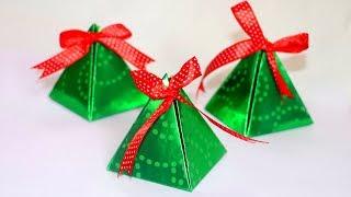 Download DIY Christmas Gift Box | Easy Paper Pyramid Gift Box | Paper Crafts | Christmas Crafts Video
