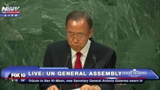 Download EMOTIONAL: Ban Ki-Moon Speaks to UN General Assembly in FINAL ADDRESS as Secretary General -FNN Video