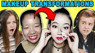 Download Kids React To Viral Asian Makeup Transformations Compilation Video