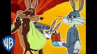 Download Looney Tunes | Wile E. Coyote Genius vs. Bugs Bunny | Classic Cartoon Compilation | WB Kids Video