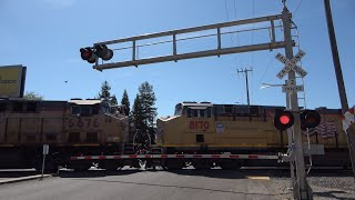 Download [Bell Dead Again] UP 2678 Manifest Train North, 14th Ave. Railroad Crossing, Sacramento CA Video