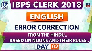 Download Error Correction | Day 02 | IBPS Clerk 2018 | English | Live at 8:00 pm Video