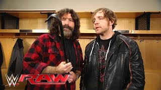 Download Mick Foley gives Dean Ambrose a familiar equalizer: Raw, March 14, 2016 Video