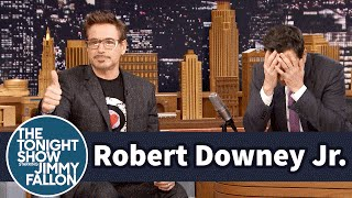 Download Robert Downey Jr. Coaches Jimmy Through Dramatic Acting Scenes Video